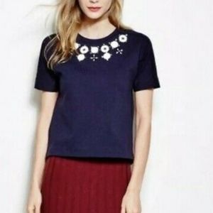 J. Crew Embellished Necklace tee